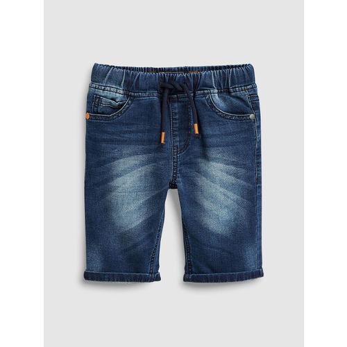 next Boys Navy Blue Washed Regular Fit Denim Shorts