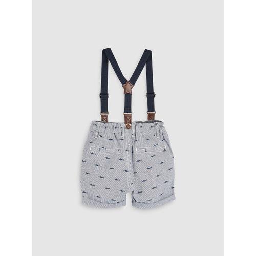 next Boys Grey Printed Regular Fit Regular Shorts