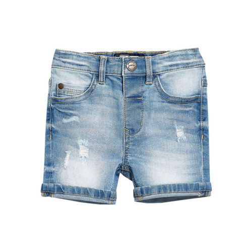 next Boys Blue Washed Regular Fit Denim Shorts