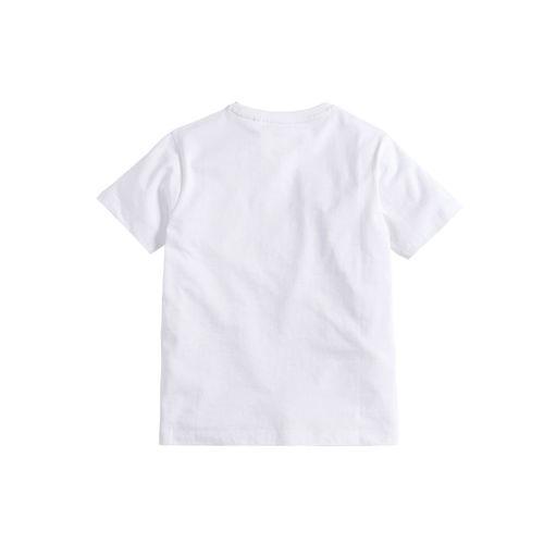 next Boys White Dinosaur Printed Round Neck T-shirt