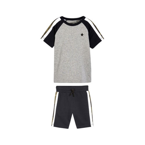 next Boys Grey Colourblocked Round Neck T-shirt