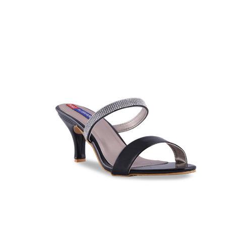 MSC Women Black Solid Heels