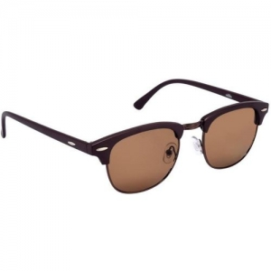 Eyeshot Clubmaster Sunglasses(Brown)