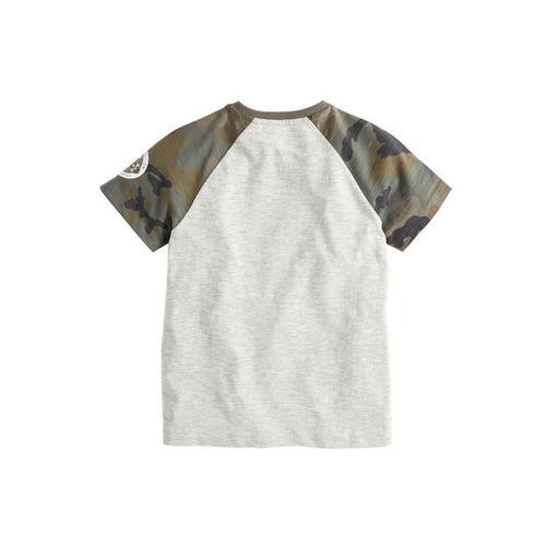 next Boys Grey Printed Round Neck Sequin Skull T-shirt