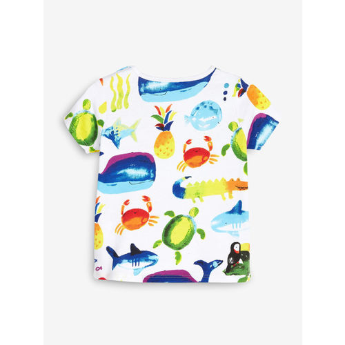 next Boys Pack of 3 Printed Round Neck T-shirt