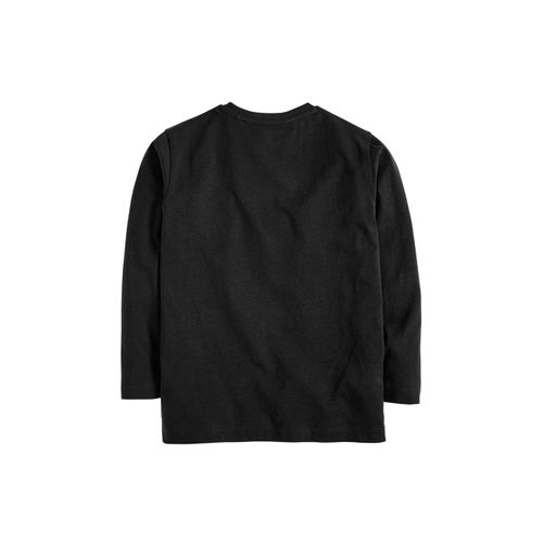 next Boys Black Solid Round Neck T-shirt
