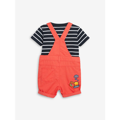next Boys Red Dungaree With T-Shirt