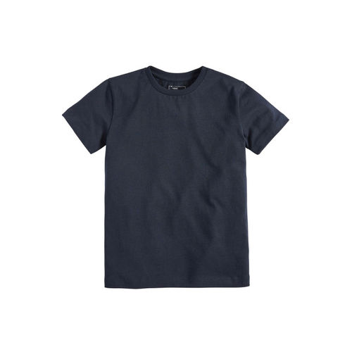 next Boys Navy Blue Solid Round Neck T-shirt