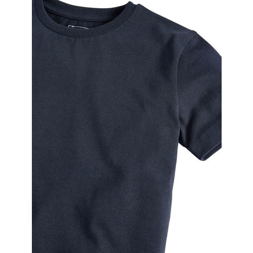 next Boys Navy Blue Solid Round Neck T-shirt