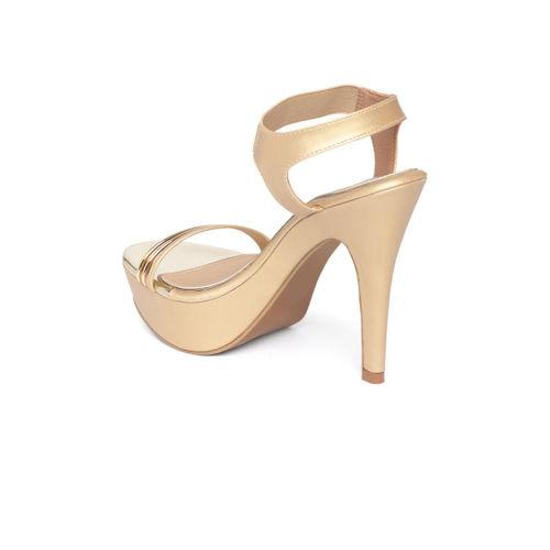 Inc 5 Women Gold-Toned & Bronze-Toned Solid Heels