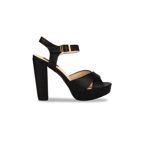 Flat n Heels Women Black Solid Heels