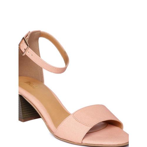 Inc 5 Women Peach-Coloured Solid Sandals