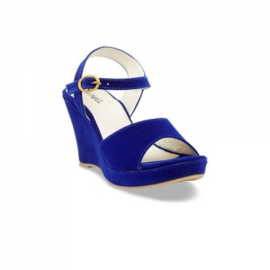 Nell Women Blue Solid Heels