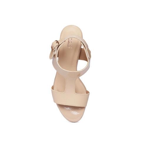 Inc 5 Women Beige Solid Sandals