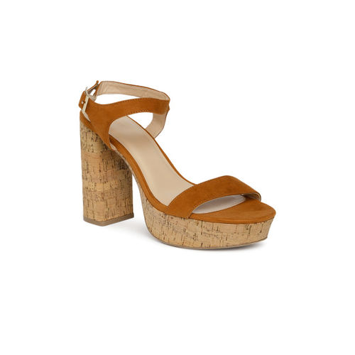 FOREVER 21 Women Tan Brown Solid Sandals