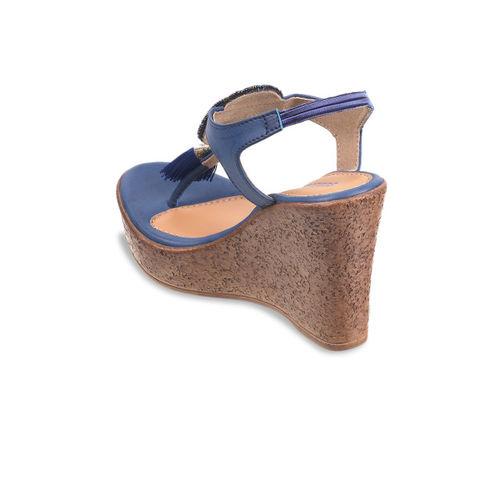 SOLE HEAD Women Blue Embellished Heels