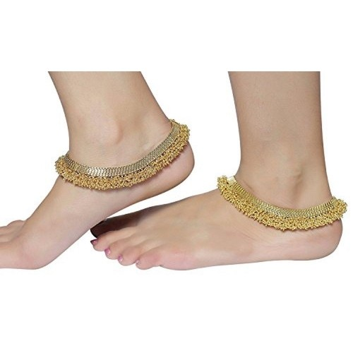 Muchmore South Indian Fashion Gold Plated Polki Anklet/Payal For Women