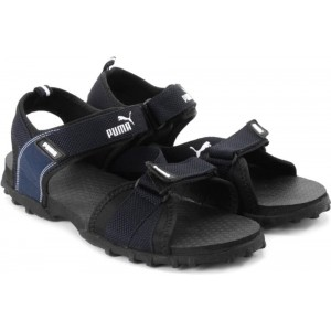 Puma Rio Men Black & Blue Sports Sandals