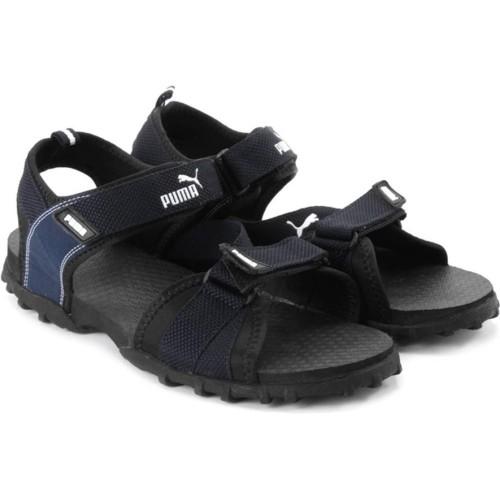 3fabfd14cd22c Buy Puma Rio Men Black   Blue Sports Sandals online