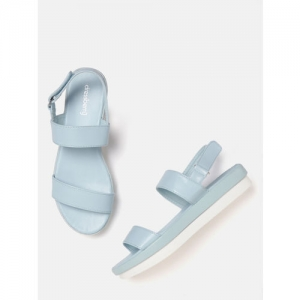 DressBerry Women Blue Solid Flatforms