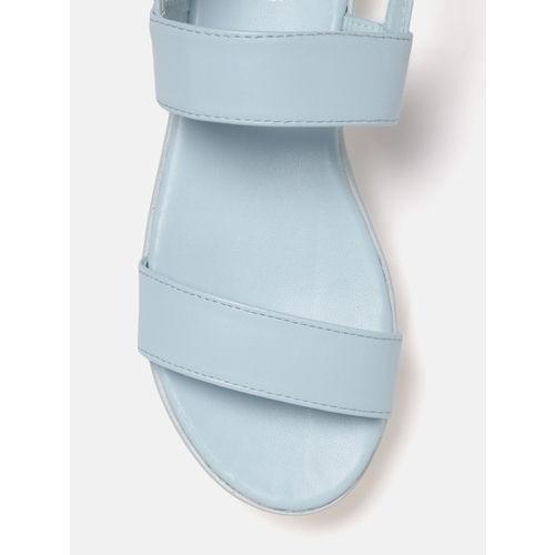 DressBerry Women Blue Solid Flatforms
