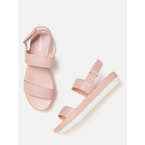 DressBerry Women Pink Solid Flatforms