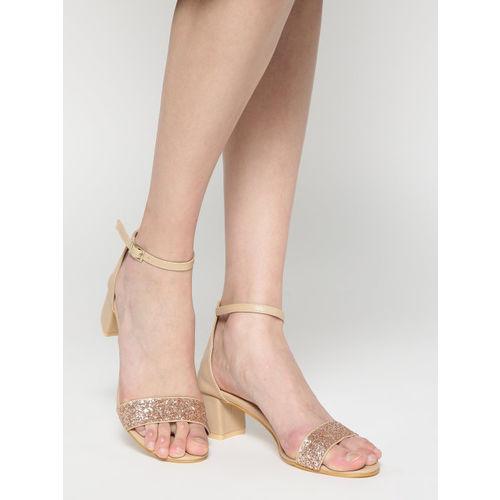 20Dresses Women Beige Embellished Heels