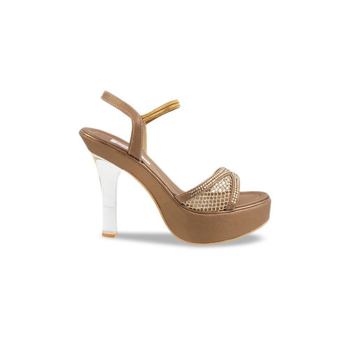 Mochi Women Gold-Toned Solid Heels