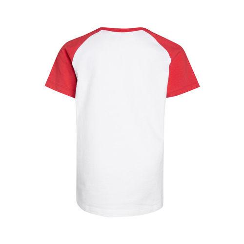 next Boys White Solid Round Neck T-shirt