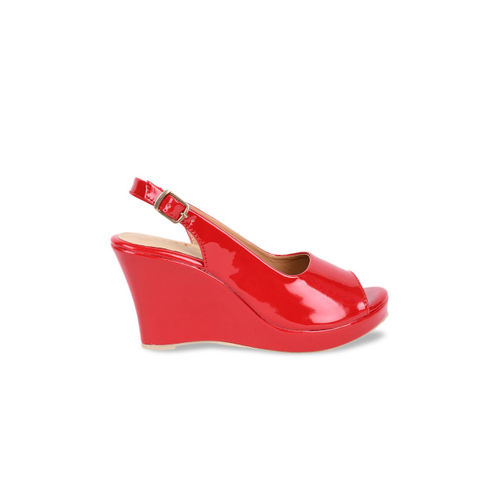 GNIST Women Red Solid Peep Toes