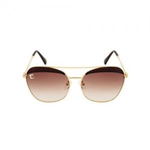 clark n palmer Oversized Unisex Sunglasses (CNP-Q1353, Golden)