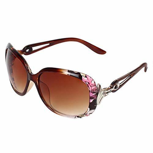 Zyaden Brown Over Sized Sunglasses For Women-516