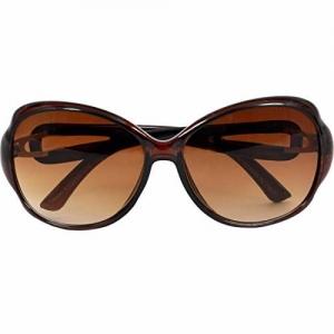 HIPPON Oversized Sunglasses For Girls(Lens-Brown||Frame-Brown