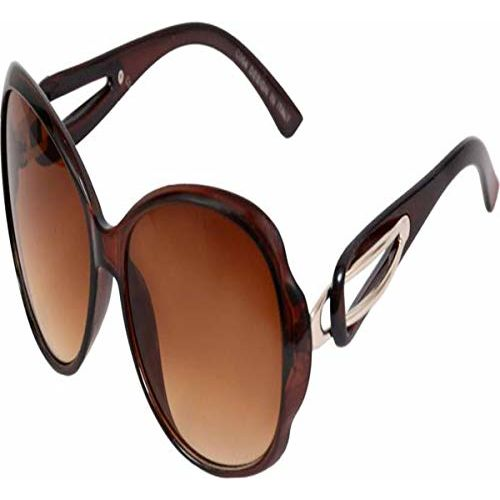 HIPPON Oversized Sunglasses For Girls(Lens-Brown||Frame-Brown