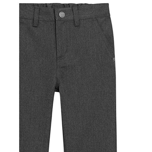 next Boys Grey Slim Fit Self Design Formal Trousers