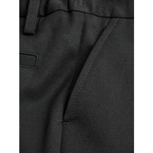 next Boys Black Regular Fit Solid Formal Trousers