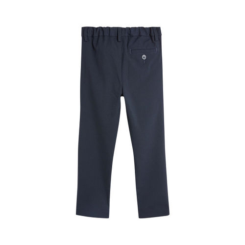 next Boys Navy Blue Regular Fit Solid Formal Trousers