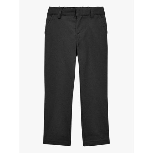 next Black Solid Regular Fit Trouser