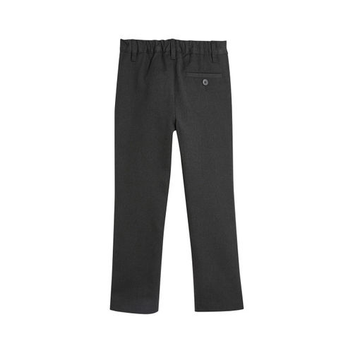 next Boys Grey Slim Fit Solid Formal Trousers