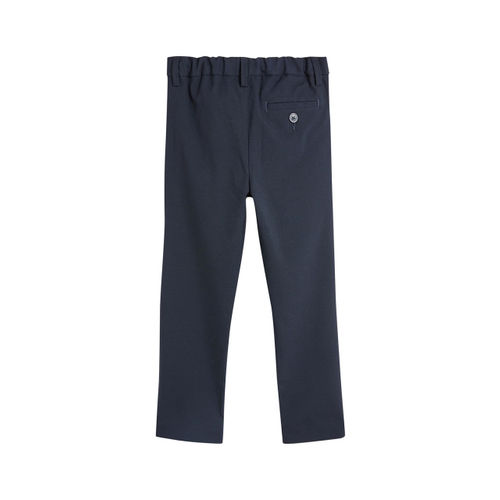 next Boys Navy Blue Regular Fit Solid Regular Trousers