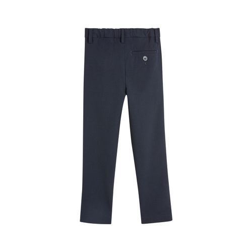 next Boys Navy Blue Slim Fit Solid Formal Trousers