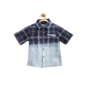 Nauti Nati Kids Navy Checks Shirt