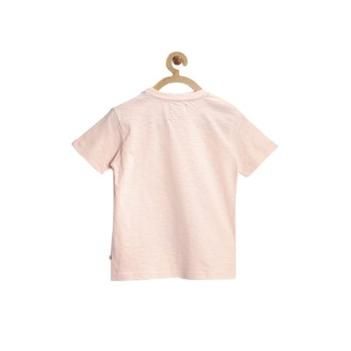 Nauti Nati Kids Peach Printed T-Shirt