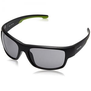 Fastrack UV Protected Sport Men's Sunglasses (P314BK1 60 Smoke (Grey/Black) Color