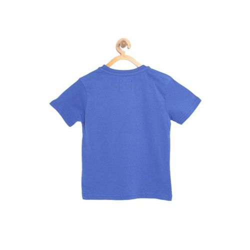 Nauti Nati Kids Royal Blue Printed T-Shirt