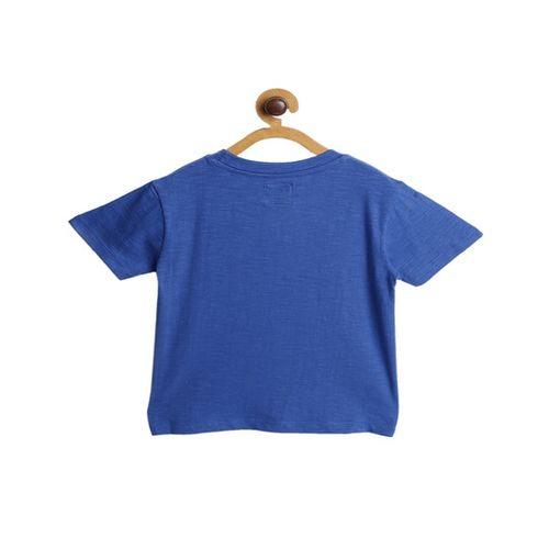 Nauti Nati Kids Blue Printed T-Shirt