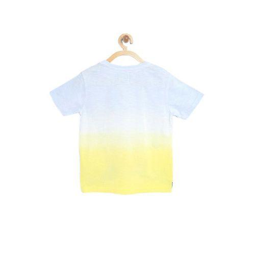 Nauti Nati Kids Blue & Yellow Printed T-Shirt