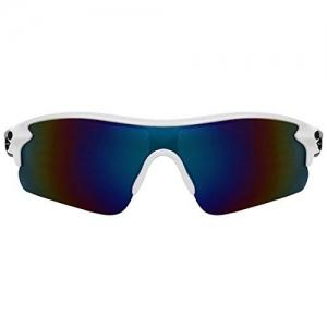 Zyaden UV Protected Wraparound Unisex Sports Sunglasses (70, Blue)