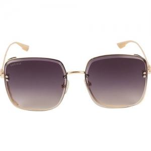 Voyage Retro Square Sunglasses(Black)