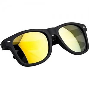 NuVew Mirrored Wayfarer Unisex Sunglasses - (Large | Color Options | NW-876-23-PRT)